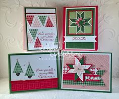 October Tutorial is on my blog today featuring the Christmas Quilt bundle and designer paper. Debbie Henderson, Debbie's Designs #stampinup #tutorial #debbiehenderson #debbiesdesigns #christmasquilt #quiltedchristmas