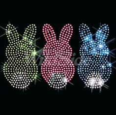 1883a525 V-Neck or Round Neck Easter Bunny Rhinestone Short Sleeve Womens Tee Shirt  Sizes Sm - 3XL Plus Sizes Too