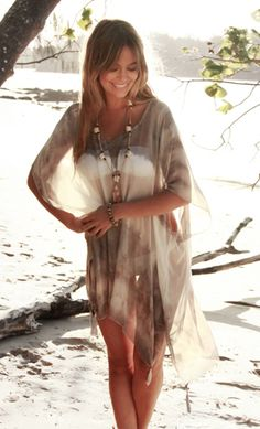 Keva kaftan - Smokey Haze by Myee Carlyle - Tops - Clothes