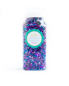 GALAXY Twinkle Sprinkle Medley is a premium,one of a kind mix of some of the fanciest and most galaxy-inspired sprinkles in the universe: purple/lavender/blue/p