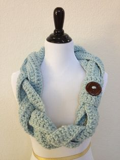 New Braid Infinity Scarf in Glacier! Beautiful color and unique detail! Now available $45