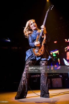 Nancy Wilson of Heart performs during the Bumbershoot Music Festival at Seattle Center on August...