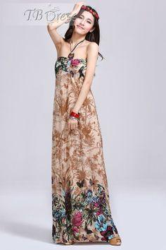 Romantic Bohemian Floor-Length Maxi Dress