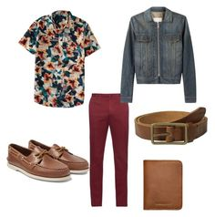 """""""try it out bro...i would cuff these pants"""" by fashionwithcare on Polyvore featuring Incotex, Sperry, Maison Margiela, Aéropostale, Scotch & Soda, Sandqvist, men's fashion and menswear"""