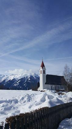 Winter in Mösern - Church in Mösern #austria #tyrol #Mösern #olympiaregionseefeld #alps Alps, Austria, Mount Everest, Mountains, Winter, Nature, Travel, Voyage, Trips