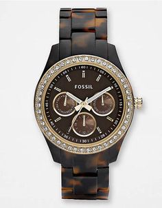 Fossil Stella Tortoise Glitzy Watch.i want for Christmas.... Someone please tell the hubby!!!
