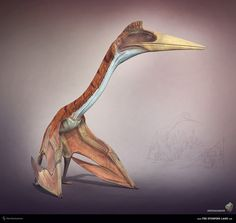 Quetzalcoatlus. The Stomping Land. 03 by Swordlord3d on deviantART