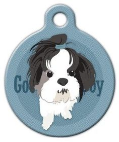 Shih Tzu - Custom Pet ID Tag for Dogs and Cats - Dog Tag Art - LARGE SIZE *** Be sure to check out this awesome product.