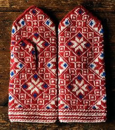 Latvian mittens on Japanese site