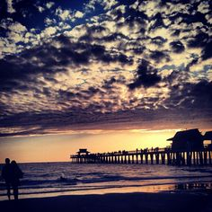 beautiful sunsets from the Naples Pier in beautiful Naples, Florida