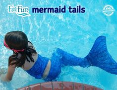 Mermaid tails that your kids can actually swim in. What an amazing gift!!!