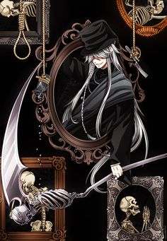 Undertaker the Death God, my fav character in the anime and manga. Black Butler Anime, Black Butler Undertaker, Black Butler 3, Ciel Phantomhive, Manga Anime, Fanarts Anime, Anime Guys, Ciel Anime, Anime Art