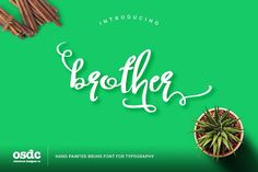 Brother Typography Script by oldschool designer co on @creativemarket
