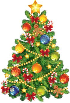 Christmas ornament clip art large transparent christmas tree with