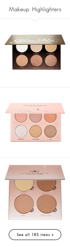 """Makeup: Highlighters"" by katiasitems on Polyvore featuring beauty products, makeup, cheek makeup, blush, beauty, filler, anastasia beverly hills, fillers, cosmetics and face makeup"