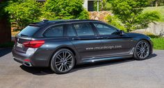 All-new BMW 5-Series Touring rendering borders on sporty.