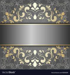 Luxury background with golden patterns Royalty Free Vector Framed Wallpaper, Cute Wallpaper Backgrounds, Flower Backgrounds, Abstract Backgrounds, Cute Wallpapers, Royal Pattern, Golden Pattern, Floral Frames, Alpona Design
