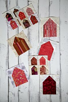 Domiciles quilt by chickpeastudio, via Flickr