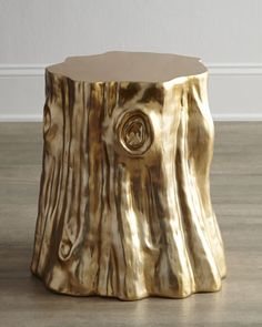"""Golden """"Cut Stump"""" #Table by @Arteriors at #Horchow #HomeDecor"""