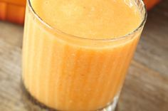 Banana and sweet potato smoothie  2 large sweet potatoes, cooked and cooled  1 medium banana  1 cup plain almond milk  1 cup vanilla or vanilla honey Greek yogurt  1 teaspoon ground cinnamon  1/2 teaspoon ground nutmeg  1/2 tspginger  Cook and cool two large sweet potatoes.  blend until smooth, approximately 2-5 minutes.  Pour and garnish with cinnamon sticks. If desired, light whipped cream on top.  To give the smoothie a more dessert-like flavor, place in freezer for about 20 to 30