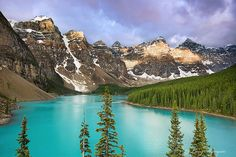 Moraine Lake in Banff, Canada Ideal.  And don't forget to check out the Banff Mtn Film Fest. So awesome.