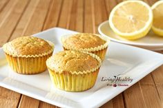 These Lemon Chia Seed Muffins are moist, soft and have a great lemon citrus flavor. The muffins are made with healthy coconut flour and crunchy chia seed. Zucchini Muffins, Muffins Blueberry, Lemon Poppyseed Muffins, Lemon Muffins, Paleo Baking, Gluten Free Baking, Gluten Free Desserts, Paleo Dessert, Healthy Desserts