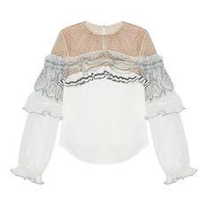 10 блузок с воланами, чтобы разнообразить весенний гардероб   Журнал Harper's Bazaar