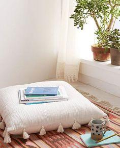 Magical Thinking Hudson Oversized Tassel Pillow - Looks great for meditation. Magical Thinking Hudson Oversized Tassel Pillow - Looks great for meditation. Meditation Corner, Meditation Rooms, Meditation Pillow, Relaxation Room, Daily Meditation, Relax Room, Meditation Prayer, Relaxation Meditation, Sala Zen
