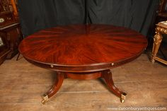 classy expandable round dining table #31825