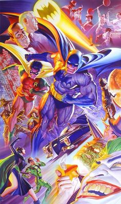 #Batman 75th Anniversary litho. Done in the 50s style of Dick Sprang! Groovy!