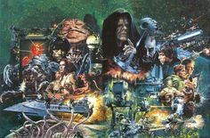 Star Wars art by Noriyoshi Orai