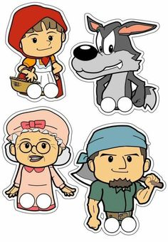 October 2014 Peek at Speech: Little Red Riding Hood Puppet Patterns, Felt Patterns, Forest Book, Forest Theme, Three Little Pigs, Hand Puppets, Paper Toys, Red Riding Hood, Little Red