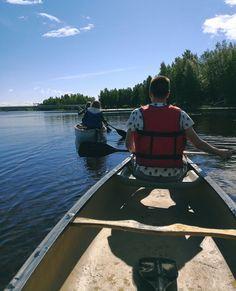 Canoeing around Nallikari 😎