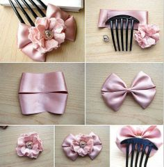 Ribbon flowers for hair Credit Love hobby craft
