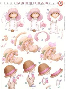 3d Morehead Prints Craft Paper Design, Paper Art, Paper Crafts, Picture Mix, 3d Sheets, Baby Girl Cards, 3d Cards, 3d Prints, Vintage Labels