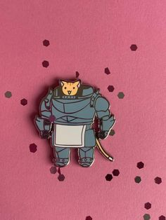 Alphonse and Cat Pin *backordered* Bag Pins, Suit Of Armor, Cool Pins, Pin And Patches, Pretty And Cute, Pin Badges, Stickers, Pin Collection, Character Design