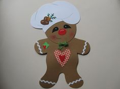 Window decoration - window picture ~ cute gingerbread man Christmas - a design . Christmas Wood, Christmas Crafts, Christmas Decorations, Christmas Ornaments, Holiday Decor, Foam Crafts, Paper Crafts, Christmas Bulletin Boards, Preschool Songs