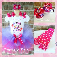 Minnie Mouse and Daisy Duck Birthday Tutu Outfit