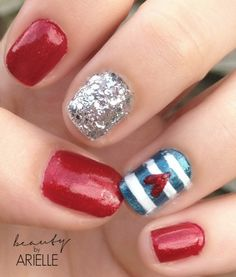 Busy Girl Nail Challenge: Glitter 4th of July Nails #busygirlnails