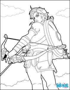 Link Coloring Page From The Famous Zelda Video Game More Games And