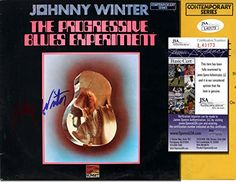 "JOHNNY WINTER Signed LP Cover - ""The Progressive Blues Ex…"