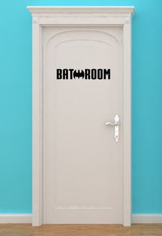 Bat Room, Batman, Bath Making H, Women, Bathroom, Restrooms, Sign, Superhero, Vinyl, Sticker, Wall Art, home, bedroom, nursery, kid's decor