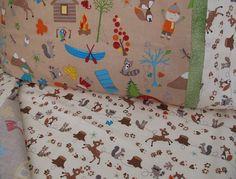 forest animals nursery toddler bedding camping crib sheet set boy nursery fox trails last one