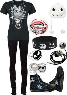 """Jack Skellington, bitches!!"" by bvb3666 ❤ liked on Polyvore"