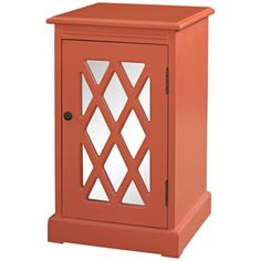 Coral Mirrored Chippendale Accent Table