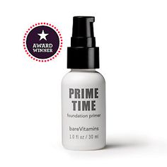 PRIME TIME FOUNDATION PRIMER by BARE MINERALS:  Allows makeup to glide on during application.  Fine lines magically disappear.  After application skin will feel silky and soft.  Minimal amount needed.  My skin has never looked so smooth!