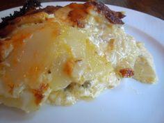 Potatoes Au Gratin- use whole milk instead of cream and cheese made from 2% milk