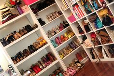 if only i could have that many shoes and bags lol