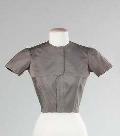Blouse  Charles James (American, born Great Britain, 1906–1978)  Date: 1942–44 Culture: American Medium: silk