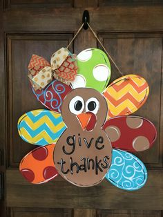 A personal favorite from my Etsy shop https://www.etsy.com/listing/451105500/turkey-door-hanger-for-fall-wood-hand